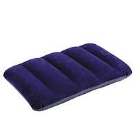 Подушка для путешествий/пляжа Интекс 68672, виниловая, с велюровой поверхностью лицевой части, 48 х 32см