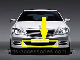Mercedes S W221 W 221 рестайлинг 2009-2013 центральная решетка в бампер передний новая оригинал