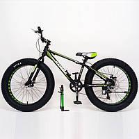 Велосипед фэт байк HAMMER EXTRIME колёса 24 дюймов алюминиевая рама
