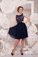 Платье GLEM Настасья M Темно-синий GLM-pl00174, КОД: 709695