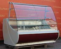 Холодильная витрина кондитерская «Golfstream Нарочь» 1.6 м. (Беларусь), очень широкая выкладка 90 см, Б/у, фото 1