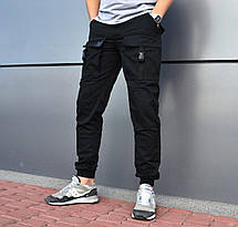 Штаны мужские - Карго Bane черный, фото 2