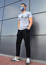 Штаны мужские - Карго Bane черный, фото 3