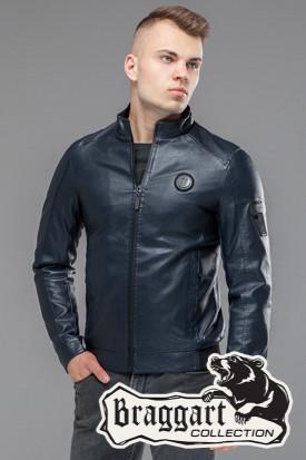 Мужская демисезонная куртка 43663 темно-синяя
