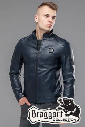 Мужская демисезонная куртка 43663 темно-синяя, фото 2