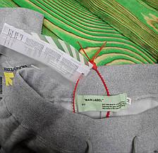 Штаны мужские - спортивные в стиле OFF-White temperature (разноцветные кресты) серый, фото 3