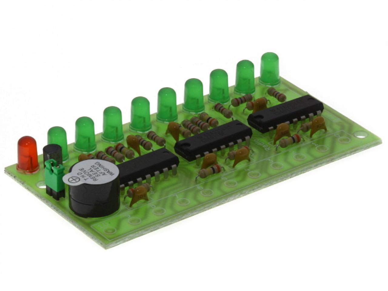 Радиоконструктор светодиодный индикатор уровня жидкости RadioKit K254.1