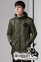 Мужская брендовая осенняя куртка (р. 48-54) арт. 45532 хаки