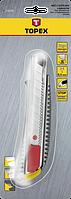 Ніж з відламуються лезом 18мм TOPEX 17B128