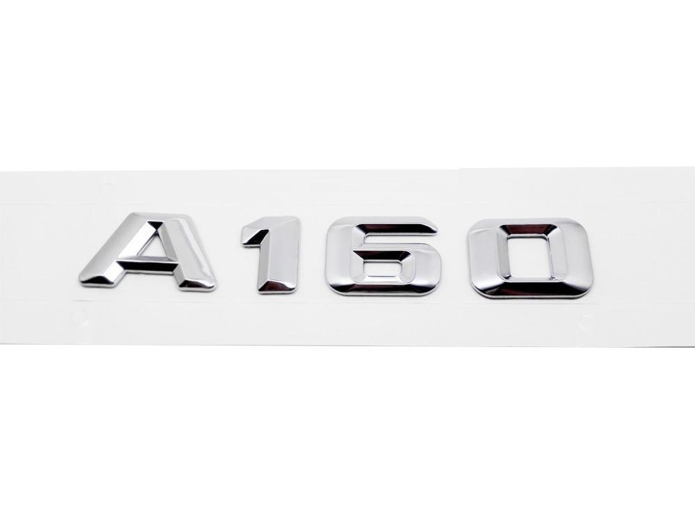 Хромированная Эмблема Шильдик надпись A160 Мерседес Mercedes