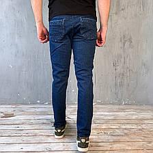 Штаны мужские - Джинс джоггеры синий, фото 3