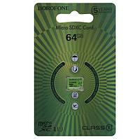 Карта памяти Borofone microSDXC 64GB class 10 зеленая