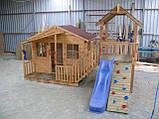 Уличная спортивная площадка с игровым домиком и горкой, фото 5