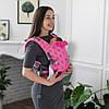 """Эрго рюкзак для новорожденных """"Стоун"""" ONE  Love & Carry """"Пион"""" Многофункционал для переноски детей Анатом"""