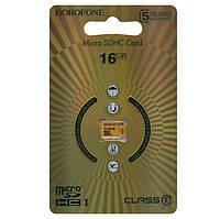 Карта памяти Borofone microSDXC 16GB class 10 желтая