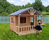 Детский домик с террасой уличный деревянный комплекс, фото 2