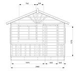 Детский домик с террасой уличный деревянный комплекс, фото 6
