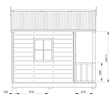 Детский домик с террасой уличный деревянный комплекс, фото 7