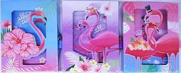 "Блокнот на замочке в коробке ""Фламинго"" 50л 12.5*16.5см"