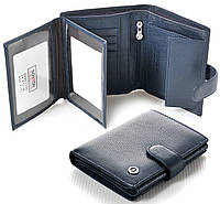 Мужской кожаный кошелек правник Boston Синего цвета