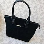 Женская сумка замш черная  (1079), фото 7