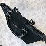 Женская сумка замш черная  (1079), фото 10