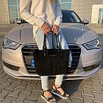 Женская сумка замш черная  (1079), фото 4