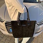 Женская сумка замш черная  (1079), фото 3