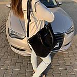 Женская сумка замш черная  (1079), фото 6