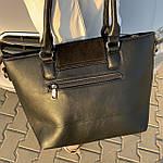 Женская сумка замш черная  (1079), фото 5