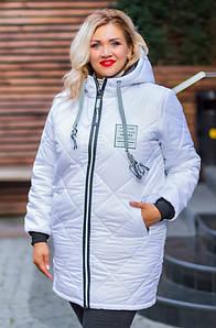 Женская зимняя куртка с капюшоном больших размеров 48-62
