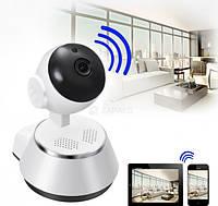 Беспроводная IP смарт камера Smart NET с датчиком движения ночным видением и панорамным обзором Wi Fi V380 Q6