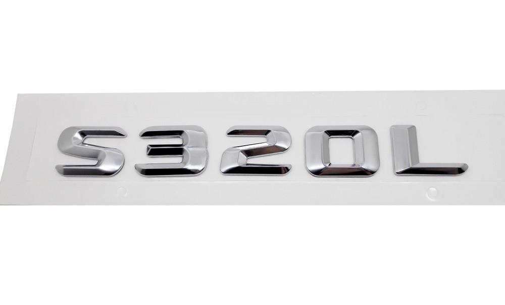 Хромированная Эмблема Шильдик надпись S320L Мерседес Mercedes