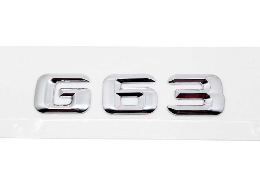 Хромированная Эмблема Шильдик надпись G63 Мерседес Mercedes