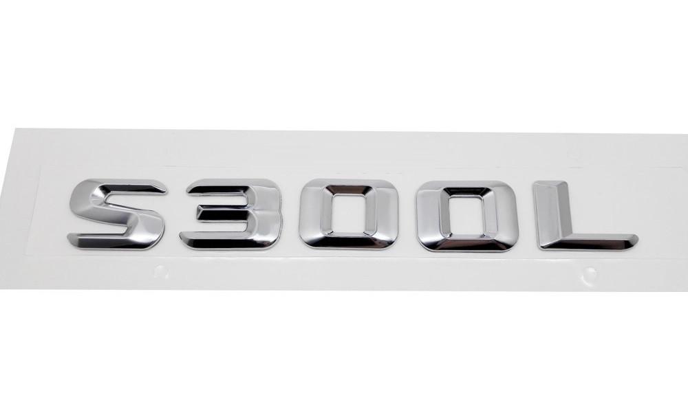 Хромированная Эмблема Шильдик надпись S300L Мерседес Mercedes