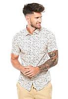 Мужская приталенная рубашка на короткий рукав Waikiki One Pocket от Jack & Jones в размере L