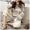 Полосатый стильный свитер 44-50 (в расцветках), фото 3