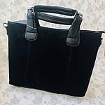 Женская сумка замш черная  (1078), фото 6