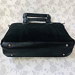 Женская сумка замш черная  (1078), фото 7
