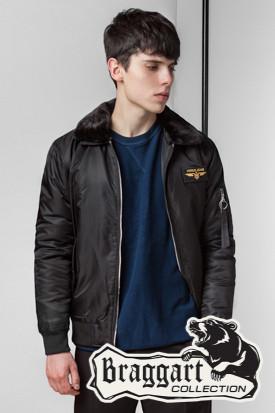 Черная мужская осенняя куртка (р. 46-56) арт. 52121 черный
