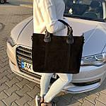 Женская сумка замш черная  (1078), фото 2