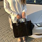 Женская сумка замш черная  (1078), фото 3