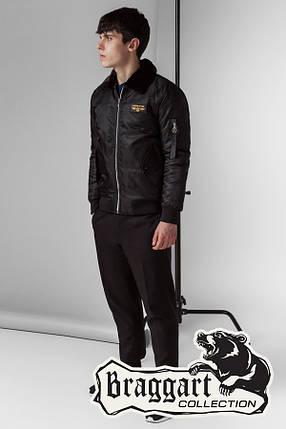 Черная мужская осенняя куртка (р. 46-56) арт. 52121 черный, фото 2