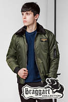 Стильная мужская осенняя куртка (р. 46-56) арт. 52121 хаки