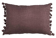 Декоративная подушка-велюр с принтом
