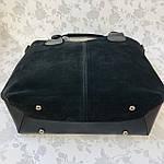 Женская сумка c косметичкой замш черная  (1080), фото 7