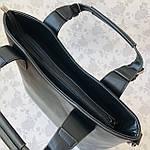 Женская сумка c косметичкой замш черная  (1080), фото 9
