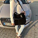 Женская сумка c косметичкой замш черная  (1080), фото 3