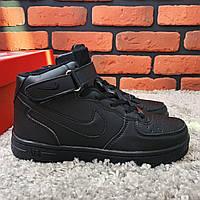 Кроссовки Зимние женские (На Меху) Nike Air Force (реплика) 1-001 ⏩ [ 38], фото 1