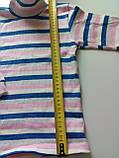 Водолазка полосатая 230219407, рост 122-128 размер 64 / молочный-синий-серый-розовый, фото 2